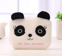 ingrosso panda borsa della moneta carina-Simpatico NUOVO Panda Coin BAG, 11CM Plush Keychain Change Coin BAG Wallet Pouch; Portafoglio Pocket Purse