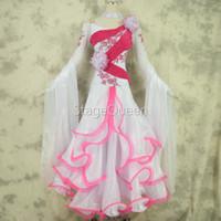 vestido de alto nivel al por mayor-Custom High-end International Standard Mujeres Salón de baile Vestido de competición de baile suave, Salón de baile Standard Tango Waltz Dance Dress