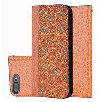Wholesale crocodile leather case online – custom Glittering Crocodile Flip PU Leather Case for iphone plus plus Wallet Magnetic Phone Cover for iphone XS Max XR X S10