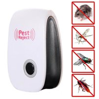 Wholesale ultrasonic mouse eu resale online - Electronic Ultrasonic Anti Mosquito Insect Repeller Rat Mouse Cockroach Pest Reject Repellent EU US UK Plug