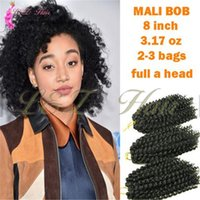 95g haarverlängerungen großhandel-Marley Ombre Afro Kinki Kanekalon Häkeln Zöpfe Haar 95g / pc Synthetische 8
