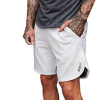 Wholesale bermudas pants men resale online - Summer short pants mens Solid fitness spandex compression shorts man cargo gyms board shorts men beach quick dry bermudas