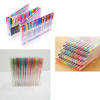 Wholesale pastel stationery resale online - Colour Fluorescent Pen Flash Pen Metal Pastel Writing Supplies Mixed color Watercolor Pen Stationery Fluorescence Metallic Pastel