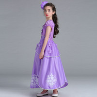 Wholesale puff prom dress for sale - Group buy Girls Princess Dress Sequins Appliqued Printed Puff Sleeve Ball Gown Dress Baby Girl Dresses Kids Prom Clothes Girls T