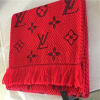 bufandas de hilo teñido al por mayor-Hombres y mujeres de moda bufandas bufanda de cachemir clásico de lana de cuerda de lana de alta calidad tejida con hilo.