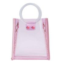 женская сумка конфеты оптовых-Women Girl Crossbody Bag Candy Color Cute Waterproof Messenger Bag Handle  Handbags Women Bags Designer Transparent #S