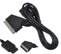 видеокабель scart оптовых-Высокое качество 1,84 м 21-контактный A / V ТВ видеоигры Scart RGB-кабель для Nintendo SNES Gamecube и консоли N64