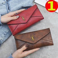 Wholesale small handmade bags for sale - Group buy 2019 new bag female long paragraph multi functional ladies wallet multi card clutch designer bags locks bamboo handles handmade small wallet