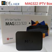 décodeur achat en gros de-Nouveau arrivé MAG322 IPTV SET top box streaming BCM75839 chipset 512M décodeur Linux HDMI internet lecteur multimédia H.265 STB MAG 322