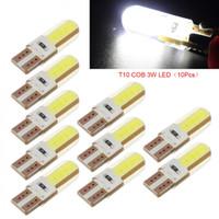 Wholesale led wedge bulbs 3w resale online - 10PCS V T10 LED Car Interior Light W Universal Auto COB Side Wedge Parking Bulb Remote Width Lighting Source
