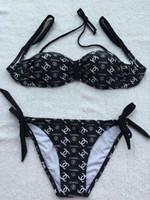 italien frauen sexy großhandel-Neues angebot Italien Designer Luxus Brief Marke Bikini 3 stück Frauen Bademode für Frau Badeanzug Strand tragen Sommer Sexy Lady Badeanzug