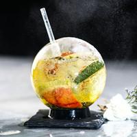 ingrosso tazze di caffè del ristorante-Creative Glass Tiramisu Coppe Food Bar Coppe Cocktail del caffè tazza di vetro Palla Drink Cup Wine Glass Bar Tazze CCA11818-A 12pcs