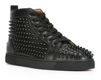 Wholesale flooring borders online - 2018 Top Studded Spikes Casual Flats Red Bottom Luxury Shoes New For Men and Women Party Designer Sneakers Lovers Genuine Leather