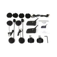 kask walkie talkies kulaklıklar toptan satış-Stereo Kask Bluetooth Kulaklık Araç Kiti Walkie Talkie Doğa Sporları Su geçirmez Bluetooth Kulaklık Çifti