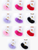 Wholesale 11 styles Baby girl birthday short sleeve outfits rompers tutus skirts sequin headband set infant party dress up st nd year toddler g