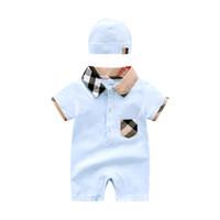 ingrosso ponticello nero del neonato-Salopette estive per bambini e tute in puro cotone Salopette per bambini in puro cotone e protezione da sudore