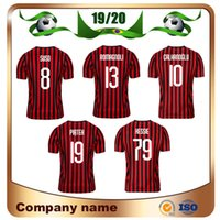 футбольная форма milan оптовых-19/20 версия игрока Milan #19 PIATEK Soccer Jersey 19/20 Home #8 SUSO #10 CALHANOGLU футбольные рубашки ROMAGNOLI футбольная форма