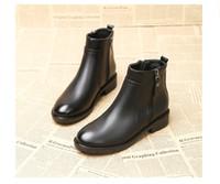 ingrosso stivali in stile euro-Donne stivaloni formato zip donne cerniera scarpe morbide signore superiori stivaletti stivaletti euro stile piatto tacco 691