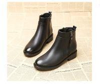 botas estilo euro venda por atacado-Mulheres grandes botas tamanho zip mulheres zipper sapatos senhoras superiores suaves botas de salto botas estilo euro plana 691