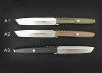 Wholesale knife fixed d2 for sale - Group buy New Arrival OEM Extrema Ratio Survival Straight Knife D2 Stone Wash Blade Nylon Plus Glass Fiber Handle With ABS K Sheath