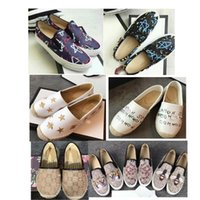 Wholesale wedding shoes resale online - 2019 loafers leather luxury DoubleGslip on espadrilles shoes Leather size us size us5 us8 Casual Shoes star print