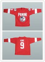 ingrosso jersey su misura-Custom XS-5XL Unique Gordie Howe 9 Maglia da Hockey appositamente cucita Stitch Cucito su qualsiasi giocatore o numero Spedizione gratuita