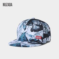 Wholesale original digital art for sale - NUZADA HD Digital Printing Baseball Cap For Men Women Couple Snapback Bone Brand Design Style Hats Original Graffiti Art