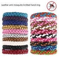 ingrosso protezione del braccialetto-Bracciale in pelle repellente anti zanzara Bracciale in zanzara anti-zanzara intrecciata Bracciale anti insetti