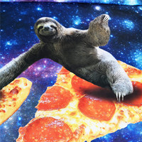Wholesale pillow covers for kids resale online - Girls Sloth Bedding Blue Galaxy Duvet Cover Kids Bedspreads Twin Size for Boys pc Animal Pillow Covers NO Quilt NO Comforter