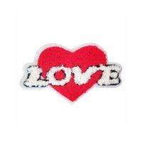 ingrosso zone del ricamo per i vestiti dei capretti-Asciugamano ricamo appliques a forma di patch cuore amore maglione dei jeans cappotto accessori di abbigliamento DL_CPIS011 cuciture decorative Patch Kids'