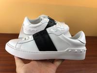 tasarımcı beyaz elbise ayakkabıları toptan satış-Moda tasarımcısı Ayakkabı beyaz Dantel Kadar Hakiki Deri Rahat ayakkabılar Erkek Kadın spor ayakkabı ile düz kutu tasarımcı Sneakers elbise ayakkabı