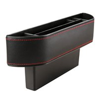 novo design telefone acessórios venda por atacado-nterior Acessórios Arrumação Arrumando o novo design Caixa de armazenamento de fendas para bancos de carro Assentos de couro Auto Gap Pockets Organizador Phone Holder Pocke ...