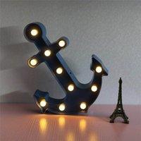 marine lampe großhandel-LED Navy Anchor Modellierung Lampe Kreative Hauptdekoration Tischlampe Neue Zimmer Wohnzimmer Alphabet Nachtlampe