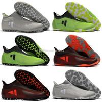 Zapatillas de fútbol para hombre Turf X Tango 17 Purespeed Tf Ic Tacos de fútbol para interiores Botas de fútbol Nuevas botas de fútbol Predator