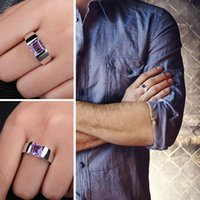Wholesale alexandrite rings resale online - Jewelrypalace Men s Square ct Created Alexandrite Sapphire Sterling Ring Vintage Jewelry Party Wedding Accessories