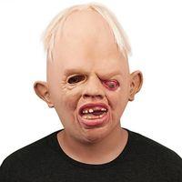 mascarillas transpirables al por mayor-Horrible Monstruo Máscaras de látex para adultos Cara completa Máscara respirable de Halloween Máscara de disfraces Fiesta de disfraces Cosplay para Festival Juguetes