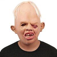 nefes alabilen maskeler toptan satış-Korkunç Canavar Yetişkin Lateks Maskeleri Tam Yüz Nefes Cadılar Bayramı Korkunç Maske Fantezi Elbise Parti Cosplay Kostüm Festivali Için Oyuncaklar