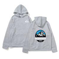 Wholesale gold mountains for sale - Group buy Fashion Sweatshirt Mens Patagonia Hoodies Designer Hooded Mountain Long Sleeved Sweatshirts