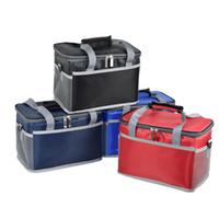 öğle buz paketleri toptan satış-8L kalınlaşma oxford soğutucu çanta termal piknik öğle yemeği kutusu yemek içecekler şarap yalıtımlı taşıyıcı serin çanta buz paketi termo kutular tutucu