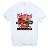 classiques de voitures américaines achat en gros de-Tige de rat classique d'école de t-shirt de voiture d'école de muscle t-shirt à col rond manches courtes d'été décontracté américain auto t-shirt Hcp789