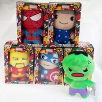 ingrosso imballaggio del giocattolo migliore-Marvel bambola farcita venire con scatola di imballaggio 10 cm / 20 cm di alta qualità i vendicatori bambola di peluche giocattoli migliori regali per i bambini giocattoli