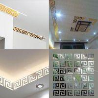 vinilos adhesivos vinilos negro arbol aves al por mayor-Al por mayor-10 piezas Puzzle Laberinto Acrílico Espejo de pared Tatuajes de arte Decoración para el hogar