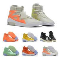 hava retro x toptan satış-Nike Air Jordan Retro Shoes Ne Tanrı korkusu x SIS Etrafında Ateş Işık Kemik Üçlü Siyah Yüksek Basketbol Ayakkabıları Turuncu Sarı Moda Zip Spor Sneakers Size40-46