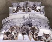 Wholesale tiger bedding king online - 3D Animal Bedding Bed Sheet Leopard Rose Tiger Wolf Lion Bed Linen Set Bedclothes Duvet Cover Sets Bedding Set