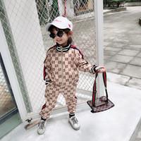 ingrosso giacche da abbigliamento per bambini-Kids Boy Clothes for Kids Tuta sportiva Spring Fall Set Baby Clothe Set Giacca per bambini + pantaloni Abbigliamento bambino per la spedizione gratuita