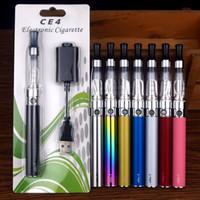 ego t vapes großhandel-EGO Electronic CE4 Vape Pen Starter Kit CE4 Zerstäuber Elektronische Zigarette eGo-T 510 650 900 1100 mAh Gewinde Vapes Batterien Blister Kit