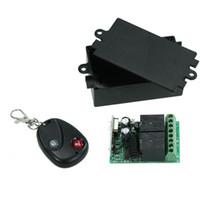 433mhz rf sender empfänger modul großhandel-Funkfernbedienungsschalter RF 433 Mhz AC 220 V 2-KANAL-Relaisempfängermodul und Lerncode-Sender-Fernbedienung