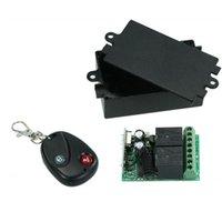 módulo de relé de controle venda por atacado-Interruptor de Controle Remoto sem fio RF 433 Mhz AC 220 V 2CH Módulo Receptor de Relé e Aprendizagem Código Transmissor Controle Remoto