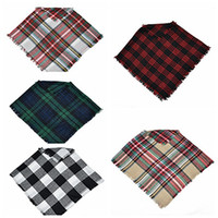 Wholesale cloak scarf resale online - Baby Girls Winter Plaid cloak Kids shawl scarf poncho cashmere Cloaks Outwear Children Coats Jackets Clothing Clothes