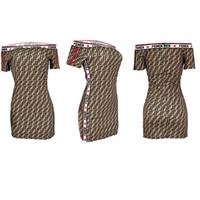 vestido de gola redonda branca venda por atacado-FF alta Mulher Qualidade apertada saia New Mercadorias Fluxo número de impressão Commute mulheres vestidos casuais
